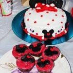 Red Mini mouse Cake Birthday Photoshoot