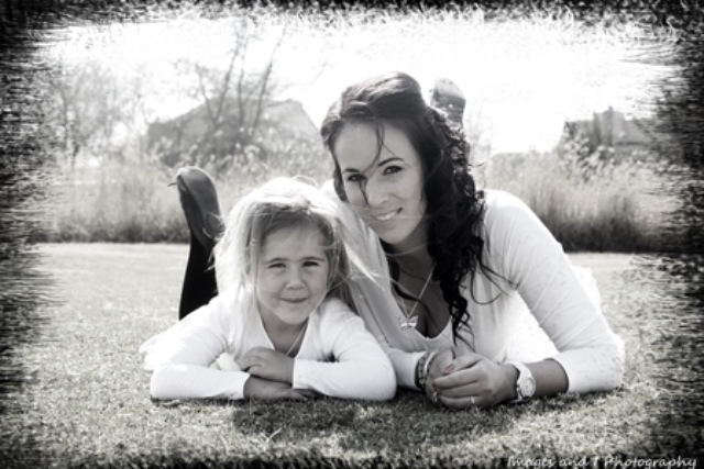 Back and White Mother and Daughter Family Photography