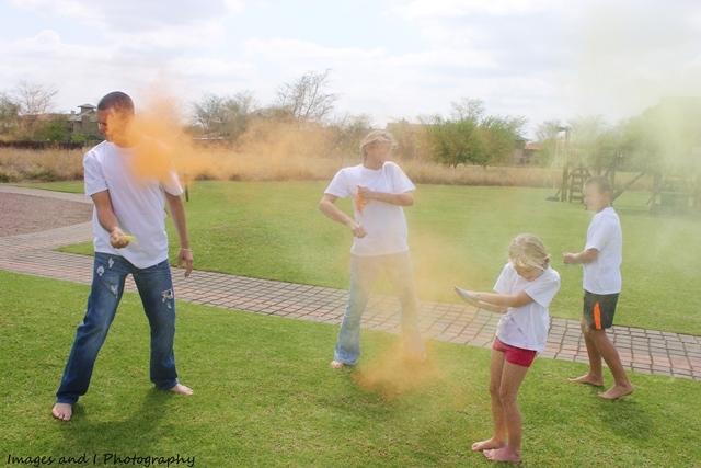 Orange Color Family Photoshoot Ideas