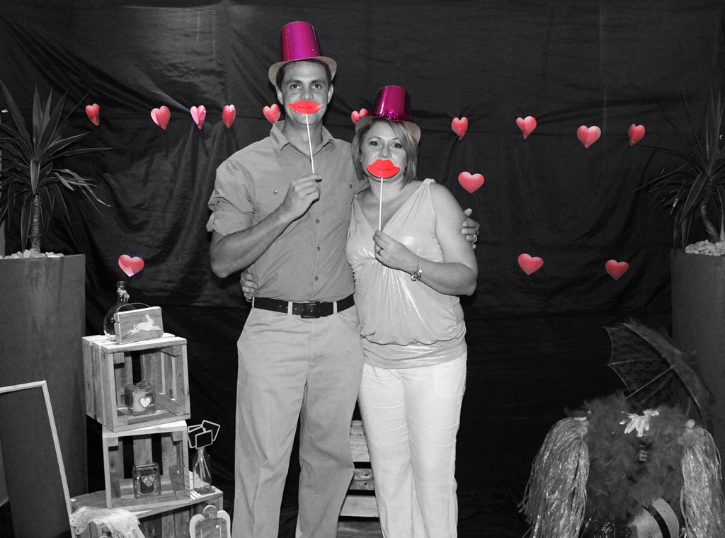 Black And White Valentines Event Photography