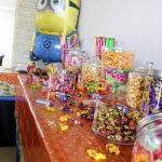 Close up Birthday Photoshoot Candy Table
