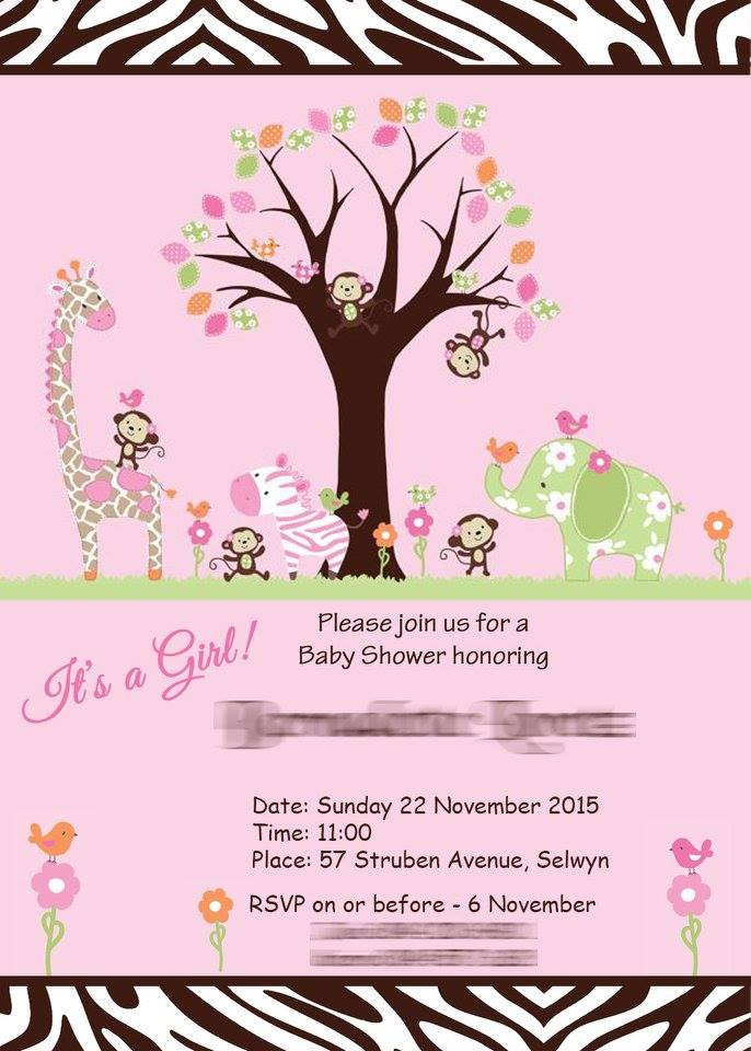 Baby Shower Invite Graphic Design