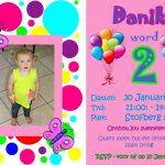 Colorful Birthday Invitation Graphic Design