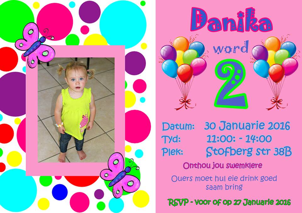 Colorful Birthday Invitation Graphic Design