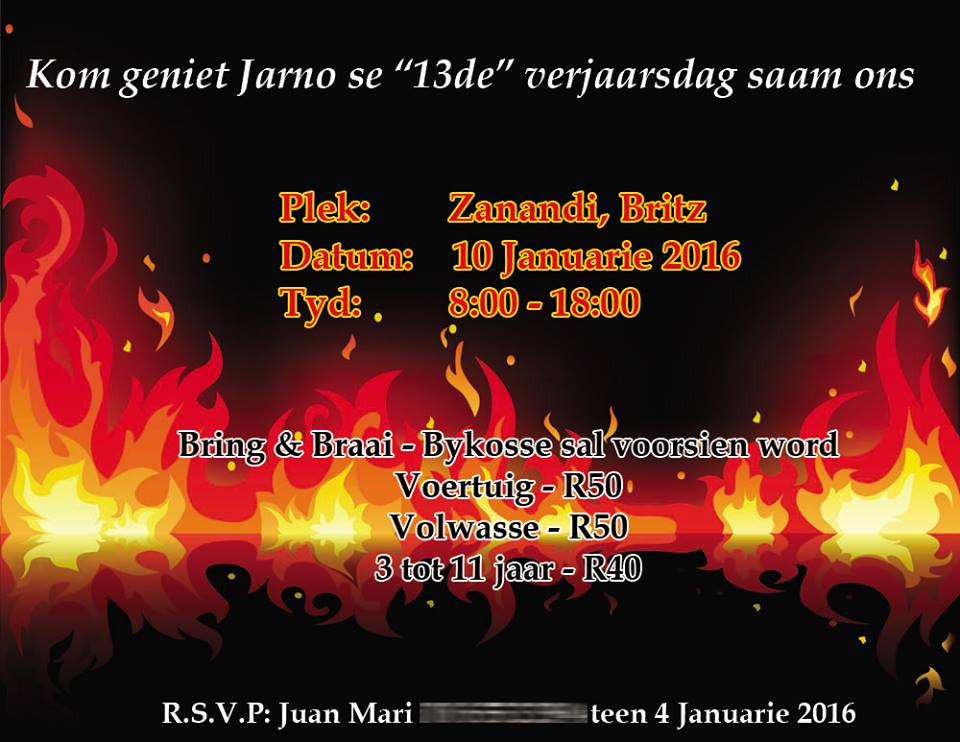 Fire invitation Graphic Design
