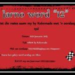 Jarno 12th Birthday invite Graphic Design