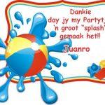 Juanro Birthday Invite Graphic Design