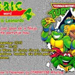 Ninja Turtle Birthday invite Graphic Design