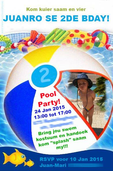 Pool Party Invite Graphic Design