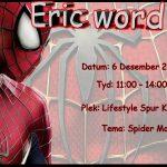 Spiderman Birthday Invite Graphic Design