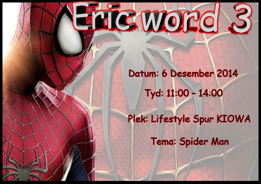 Spiderman Birthday Invite Graphic Design